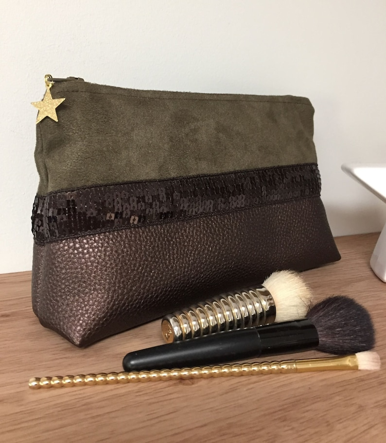 Make-up bag in the Vanessa Bruno style / Bag Pouch sequins image 0