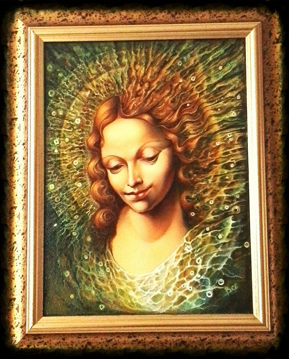 The Annunciation Original Oil Hand Painting The Appearance Of The Holly Spirit To Marry In Modern Renaissance Style Christian Harmony