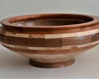 Segmented wood bowl | Etsy