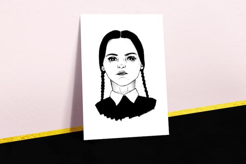 Wednesday Addams Poster Art Print Adams Family Feminist Etsy