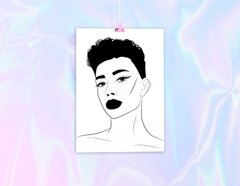 c4eb3c580b0 James Charles Poster Art Print Hi Sisters Makeup make up