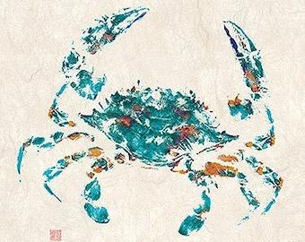 "Open edition ""Blue Crab"" gyotaku print"