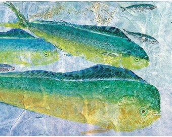 """Life size limited edition reproduction of Original gyotaku """"Surface Action"""""""