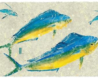 Mahi Chasing Flying fish