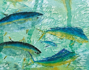 """New Life Size """"In the Zone """"Gyotaku Print"""