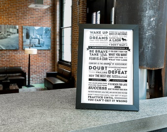 Unique Inspirational Quotes and Phrases Poster Using Typograhy