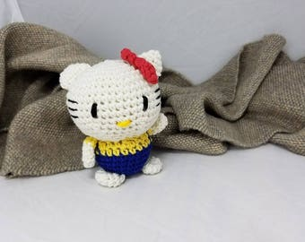 Tiny Little Crocheted Kitten!  Amigurumi Doll