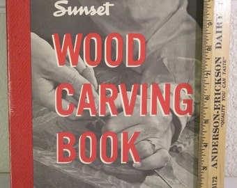 """book-""""woodcarving book sunset"""" 1977"""
