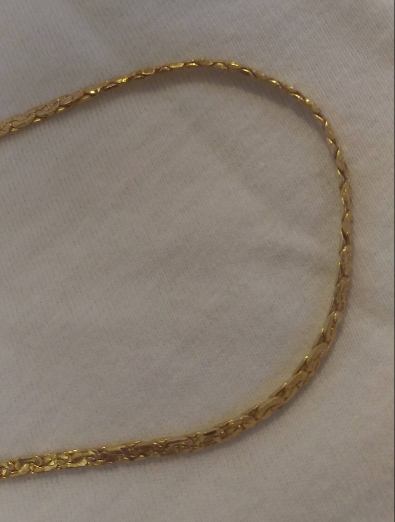 Vintage 14kgp Jewelry Chain Necklace and Bracelet Set