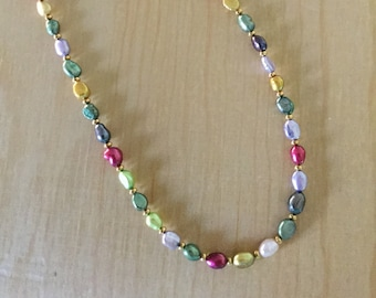 Multi-colored Freshwater Pearl Necklace
