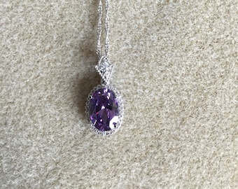 Crystal Amethyst Pendant Necklace