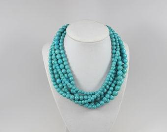 Flat Turriform Shape Red and Turquoise Necklace,8-20mm Big size Turquoise Necklace Gift necklace,Chunky Turquoise Bridesmaids/&Wedding Jewelr
