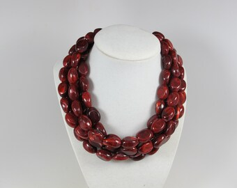 Chunky RedPurple Garnet Bracelet