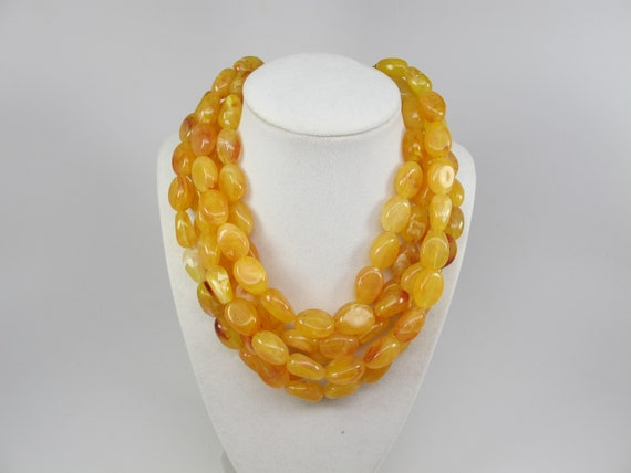 Sumaris Necklace OOAK Multi-strand Necklace Jasper Yellow-colored Necklace Yellow Turquoise Sterling Silver Amber STATEMENT NECKLACE