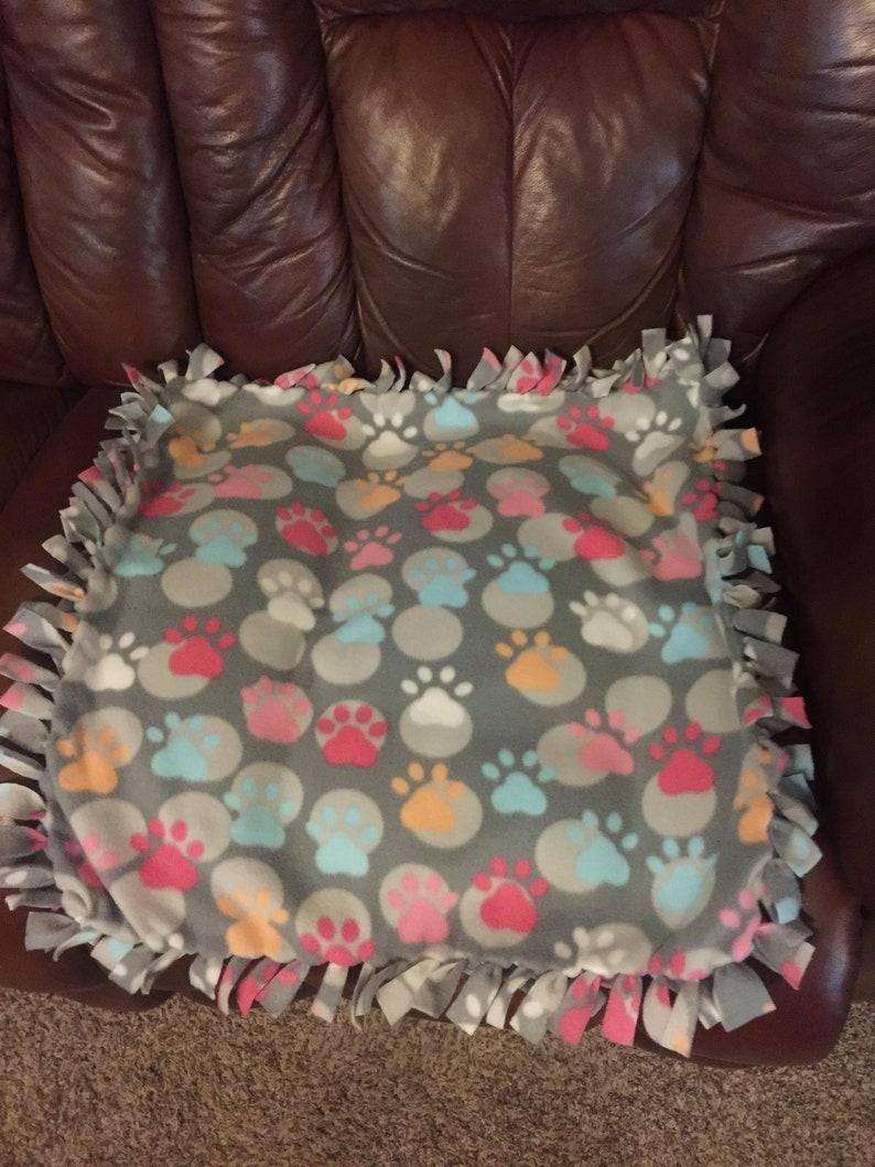 Dog Paws Dog BlanketFleece blanketPawprintsSmall blanketLarge blanket