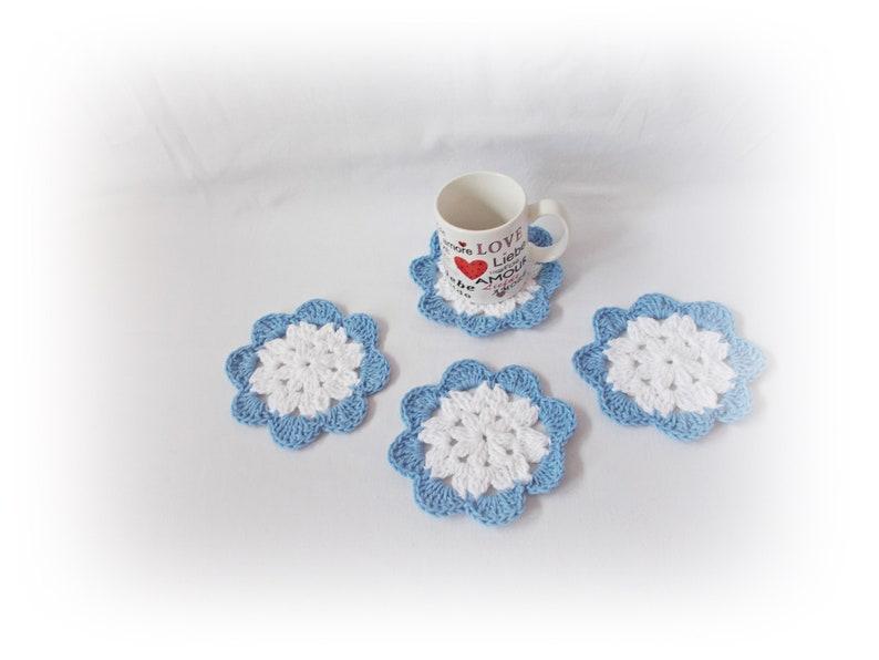 Crochet coaster home decor