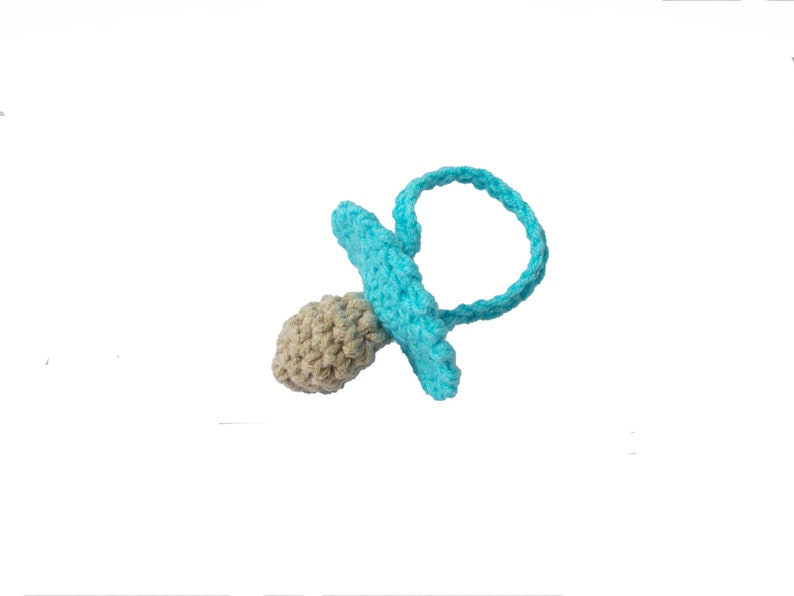 Crochet pacifiers baby shower favors new baby new mom party image 0