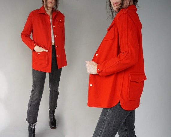 1940s White Stag Red Wool Jacket | small