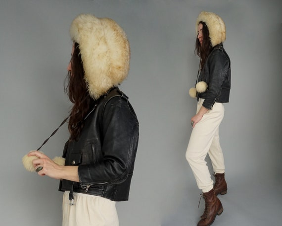 1960s Lamb Fur Sheepskin Hat Cap - Made in Italy |