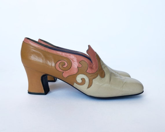 1960s Authentic JERRY EDOUARD Mod Loafer Pumps - m
