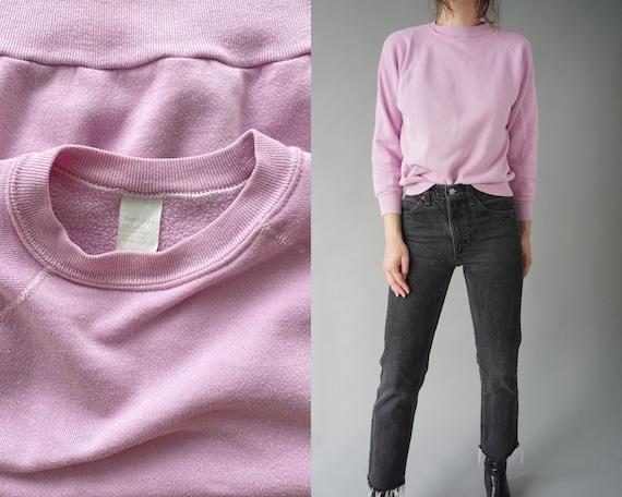 1970s Lilac Raglan Sweatshirt - Made in USA   S -
