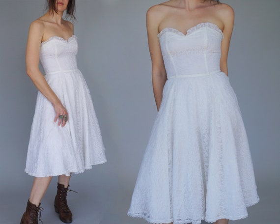 Vintage Gunne Sax Jessica McClintock Dress | White