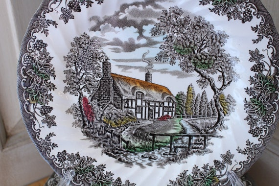 """Franciscan ENGLAND The Brook 9 7//8/"""" Dinner Plate s In Excellent Condition"""