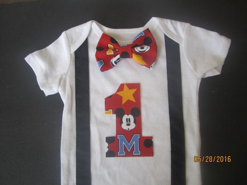 ba68f65c1 Red bow tie birthday outfit Boy first birthday shirt Boy 1st   Etsy