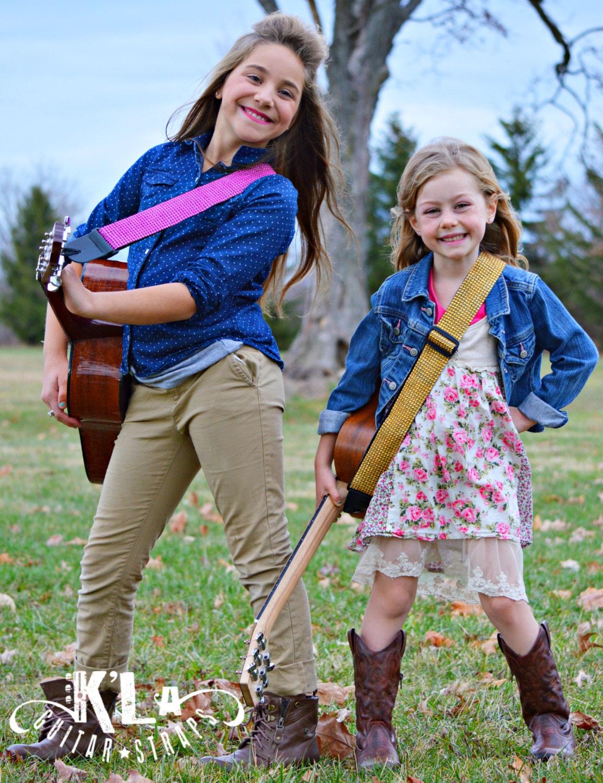 kid guitar guitar strap pink guitar straps kids guitar etsy. Black Bedroom Furniture Sets. Home Design Ideas