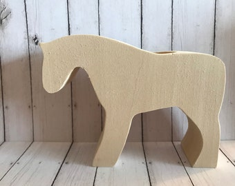 Unfinished Wooden horse