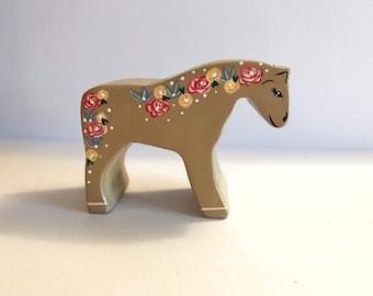 "Tiny 2"" wooden horse"