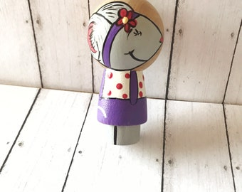 Penny peg mouse in purple