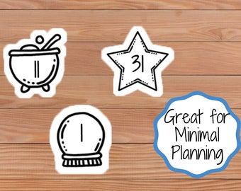 Magical Dates - Minimal - Doodle - Planner Stickers - Happy Planner - Mini Happy Planner - Diary - Travellers Notebook etc