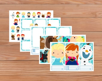 Ice Sisters set - Planner Stickers - Happy Planner - Personal Planner - Mini Happy Planner - Diary - Travellers Notebook etc