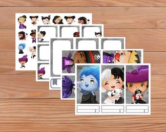 Baby Villains set - Planner Stickers - Happy Planner - Personal Planner - Mini Happy Planner - Diary - Travellers Notebook etc