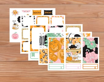 Halloween Party Set - Planner Stickers - Happy Planner - Animals - Mini Happy Planner - Diary - Travellers Notebook etc