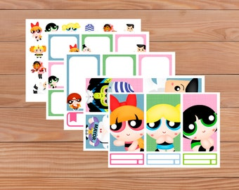 Super Girls set - Planner Stickers - Happy Planner - Personal Planner - Mini Happy Planner - Diary - Travellers Notebook etc
