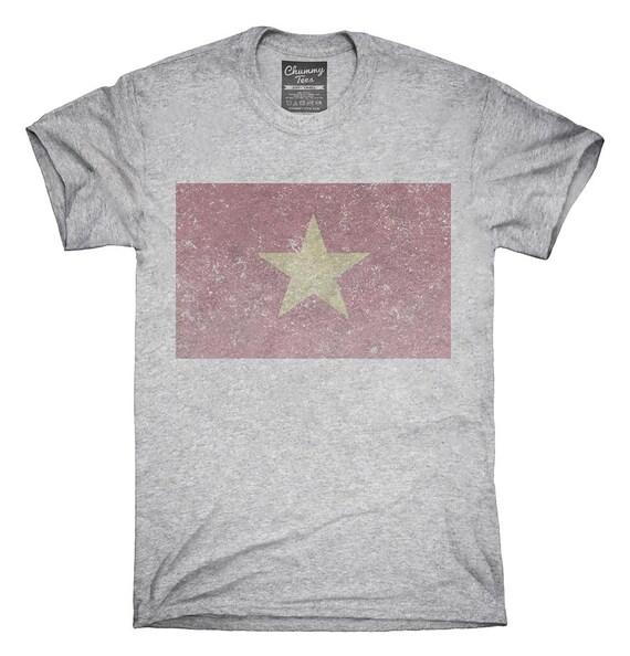 cbaab424879 Retro Vintage Vietnam Flag T-Shirt Hoodie Tank Top Gifts