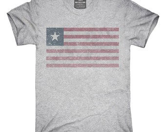 Retro Vintage Liberia Flag T-Shirt, Hoodie, Tank Top, Gifts