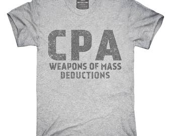 Funny CPA Weapons Of Mass Deductions T-Shirt, Hoodie, Tank Top, Gifts
