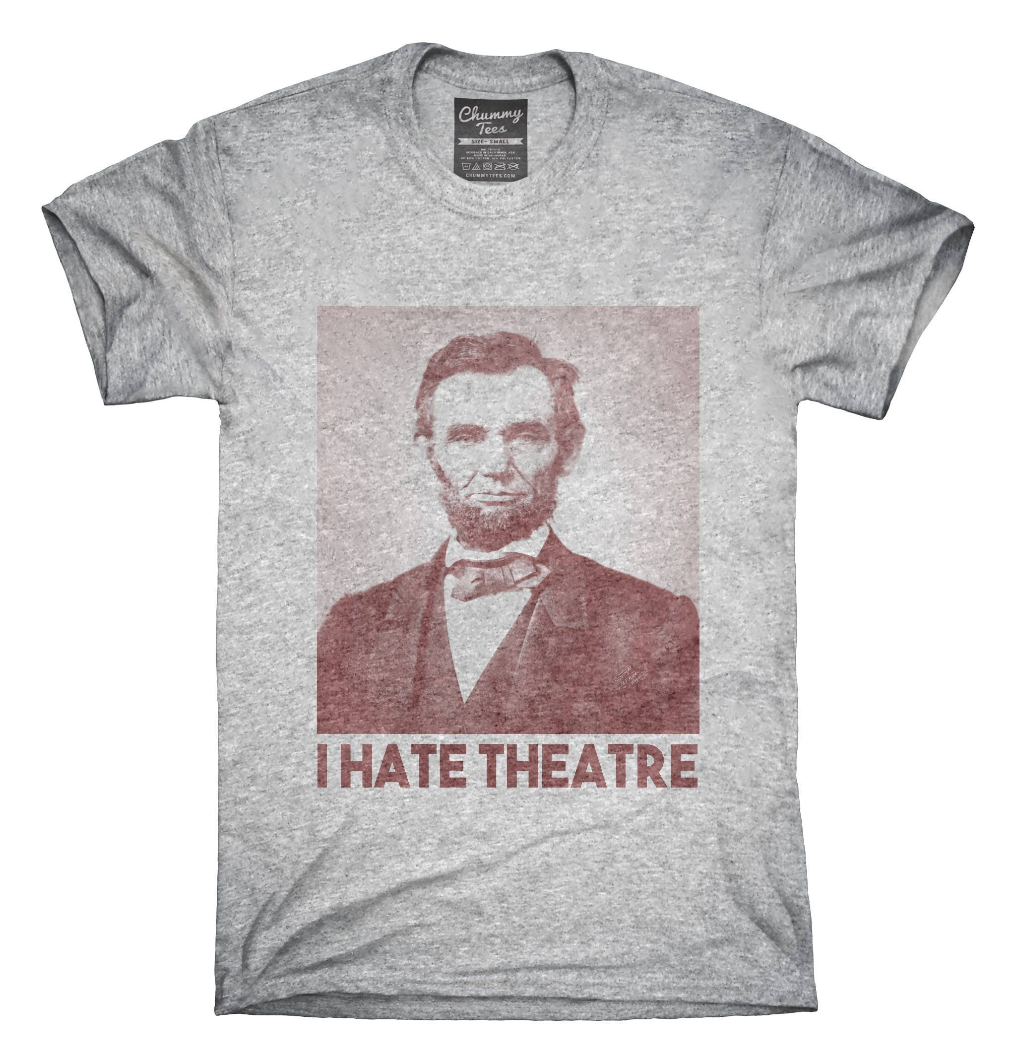 Abraham Abe Lincoln I Hate Theatre T Shirt Hoodie Tank Top Etsy