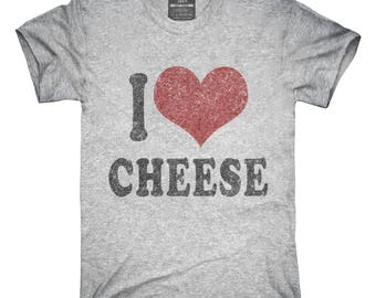 I Love Cheese Funny T-Shirt, Hoodie, Tank Top, Gifts