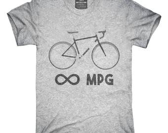Bicycle Infinity Miles Per Gallon MPG Unlimited Bike Cyclist T-Shirt, Hoodie, Tank Top, Gifts