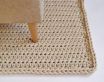 Tappeto Alluncinetto Rettangolare : Grigio cordoncino in cotone tappeto rettangolare tappeto etsy