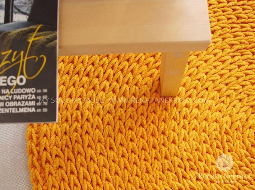 jaune cordon en coton tapis rond tapis au crochet tapis au etsy. Black Bedroom Furniture Sets. Home Design Ideas