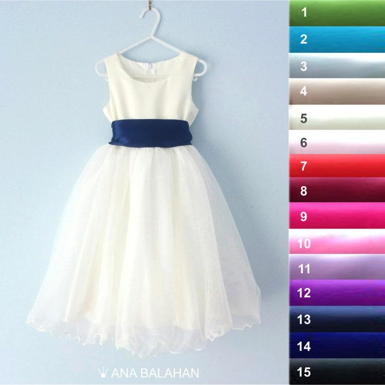 ecac3d6ca Flower girl dress Wedding Junior Bridesmaid Easter Dress