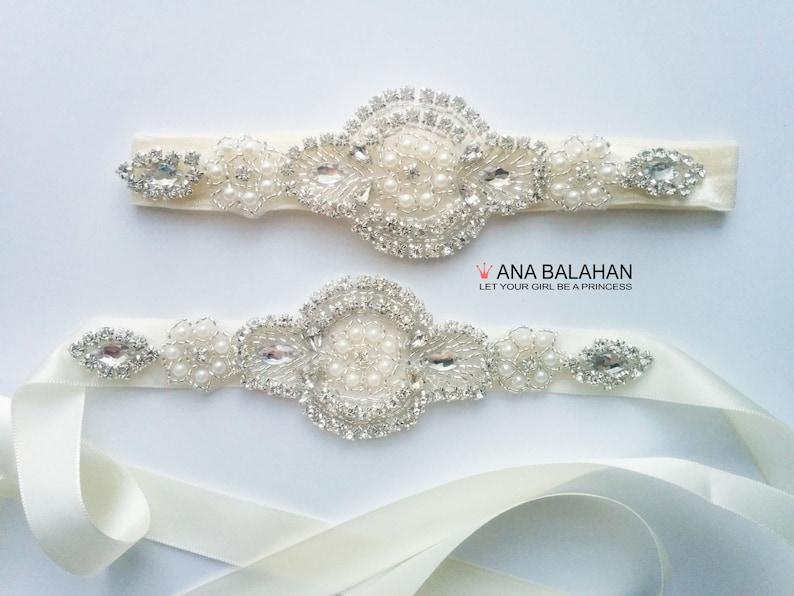 769c41708c7 Belt and Headband Set Flower girl sash Satin sash 1.5