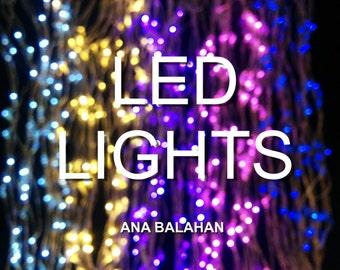 LED lights, table centerpiece, chair decoration, skirt LED lights, filling for jar with fireflies mason jar, fairy LED lights