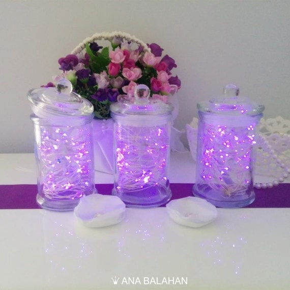 Led Fairy Lights Centerpiece Wedding Table Centerpiece Etsy