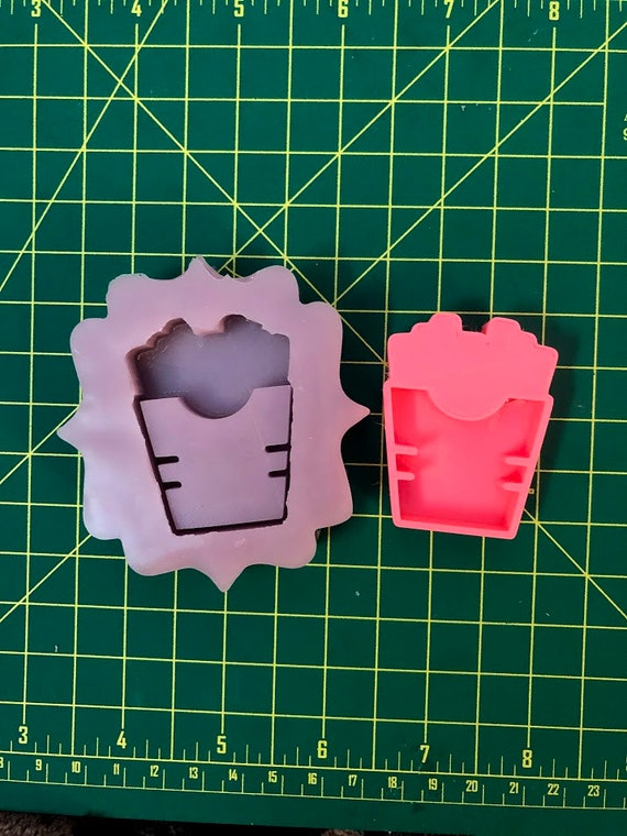 French Fries Shaker Silicone Mold Resin Crafting Casting Charm Deco Keychain Cute Kawaii Food Molds Epoxy Resin